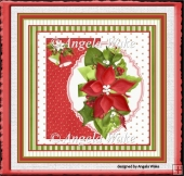 red poinsettias and bells