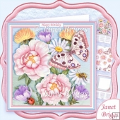 BUTTERFLY VISIT 8x8 Decoupage & Insert Kit All Occasions