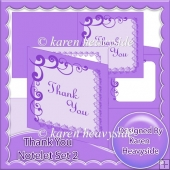 Thank You Notelet Set 2