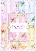 Butterfly Garden Backing Background Papers Set