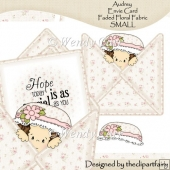 Audrey Envie Card Faded Floral Fabric SMALL(Retiring in July)
