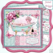CHILLAX 8x8 Female Birthday Mother's Day Decoupage & Insert Kit