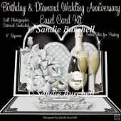 Birthday & Diamond Wedding Anniversary 8 x 8 Easel Card Kit