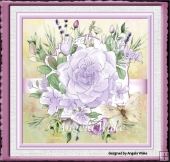 Large lilac rose 7x7 card