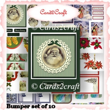Christmas Toppers For Card Making.Bumber Vintage Christmas Card Toppers 1 20 Instant Card Making Downloads