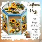 SUNFLOWERS HEXAGON GIFT BOX AND TAG