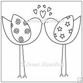 Lovebirds Digital Stamp/Line Art