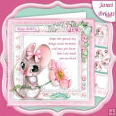 MOUSE & BLOSSOM With Verse 7.5 Decoupage & Insert Kit