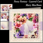 Pansy Fantasy - Layered Card