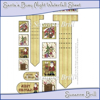 Santa's Busy Night Waterfall Sheet