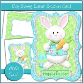 Boy Bunny Easter Bracket Card