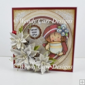 RTP LARGE CIRCLE TOPPER CARD SASSY CHRISTMAS
