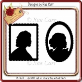 148 Framed Silhouette Ladies 2 *Multiple MACHINE Formats*