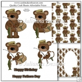 Teddy Fisherman Decoupage Set