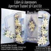 Lilies & Anemones Aperture Tunnel 3D Card Kit