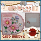 Flower Spray Decoupage D-Shaped Fold Card Kit