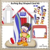 Surfing Boy Shaped Card Kit