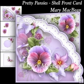 Pretty Pansies - Shell Front Card