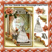 On Your Special day Decoupage Card Front