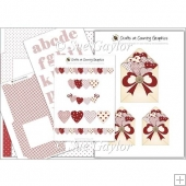 Valentines Hearts Card Kit