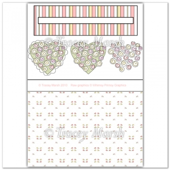Hearts & Roses Penny Slider Sheet