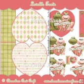 Lovable Toads - Heart Shaped Card