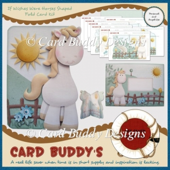 If Wishes Were Horses Shaped Fold Card Kit