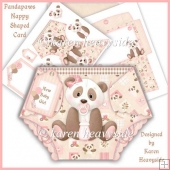 Pandapaws Nappy Shaped Card