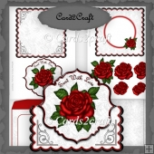 Fold over rose card set