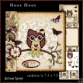 Cardtopper Kit Hoot Hoot magenta