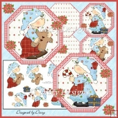 Christmas Kids Octagonal Cards