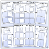 Envelope Card & Insert Templates Commercial Use