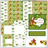 Christmas Bells Merry Christmas Easel Card