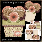Flower Pot Stand Alone Card Kit 5