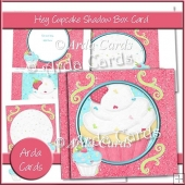 Hey Cupcake Shadow Box Card