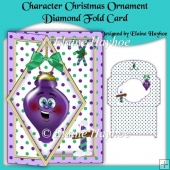 Character Christmas Ornament Diamond Fold Card