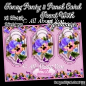 Fancy Pansy 3 Panel Card Front