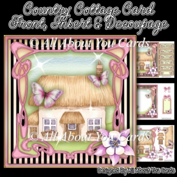 Country Cottage Card Front
