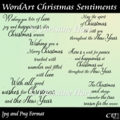 Wordart Christmas Sentiments