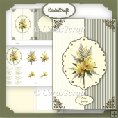 Yellow Lily Foldback card