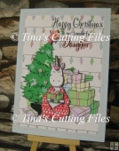 Christmas Unicorn and Tree 3d card, insert and box