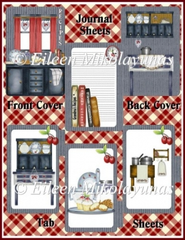 Country Kitchen Recipe Journal Book Kit