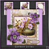 Vintage Stripes and Flowers Card Kit 1071