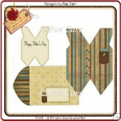 142 VEST Shaped Card & Envie *HAND & MACHINE Formats*