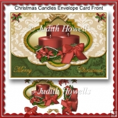 Christmas Candles Envelope Card Front