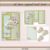 Art Deco Layered Card Front