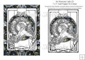 Art Nouveau Lady (2) 7 x 5 Digi Card Topper For You To Colour