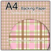 ref1_bp127 - Cream Pink & Brown Tartan Checks