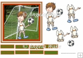 Football boy 6x6 card