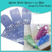 Advent Icicle Boxes 1-25 Blue